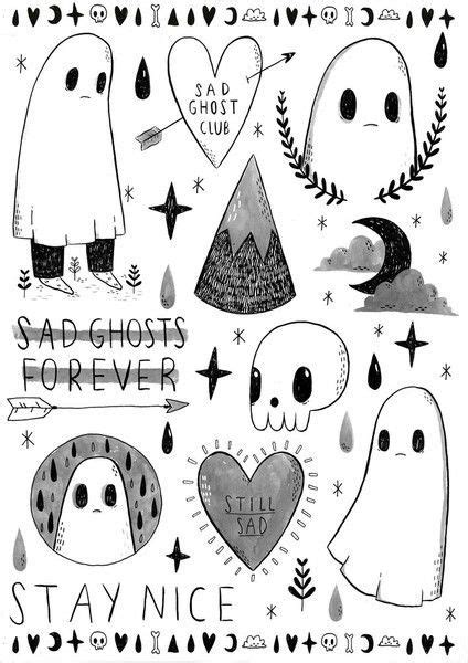 Image result for cute ghost tattoo | Ghost tattoo, Spooky