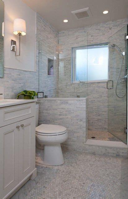 Half Bathroom Tile Ideas by Half Wall Shower Like The Half Wall Not The Tile