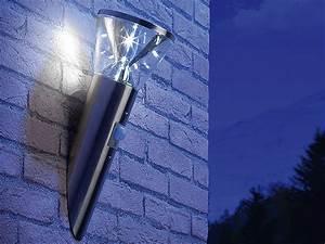 Led Wandlampe Mit Bewegungsmelder : lunartec solar led wandlampe in edelstahl optik mit bewegungsmelder ~ Markanthonyermac.com Haus und Dekorationen