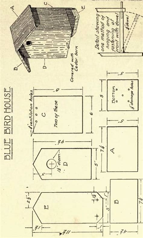 antique birdhouse plans ruby canoe design