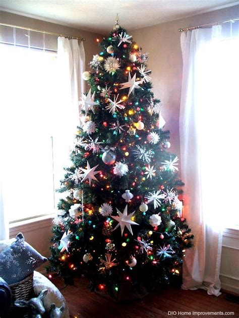 christmas tree decorating ideas  multi colored lights