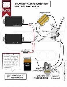 Guitar Wiring Diagram Active 1 Volume 2 Pickups 3 Way Switch