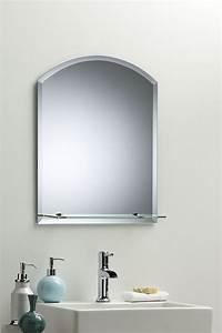 contemporary bathroom mirrors BATHROOM WALL MIRROR Modern Stylish ARCH With Shelf And ...