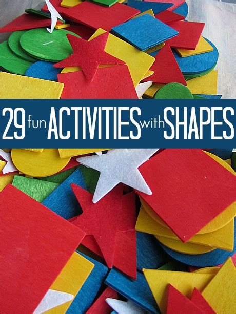 29 shape activities no time for flash cards 133 | shape activities for preschool