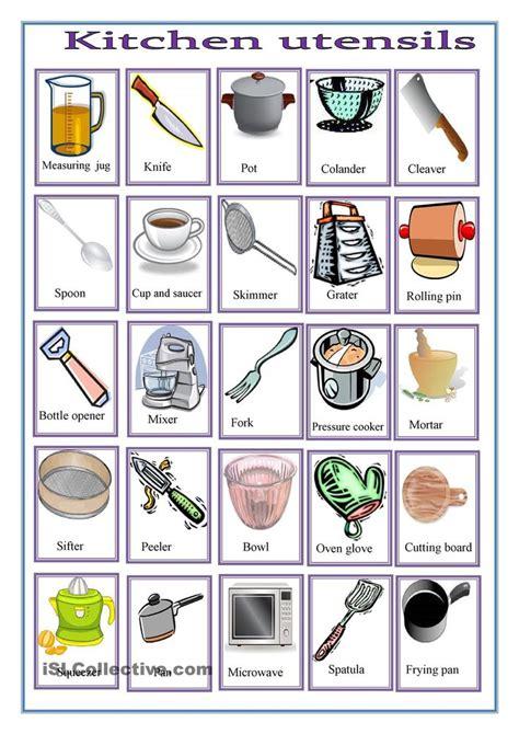 Kitchen Worksheets Free  Google Search  Work Pinterest