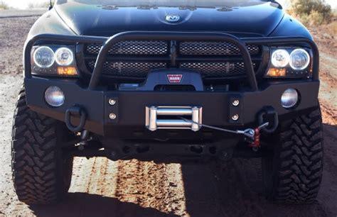 front winch bumper dakota truck   bluelakeoffroad