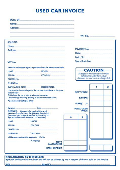 car invoice template invoice
