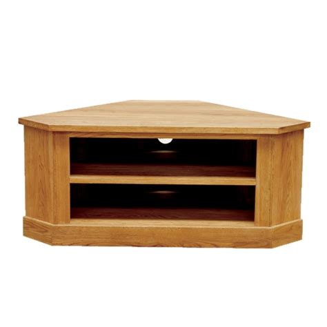 contemporary oak low corner tv cabinet