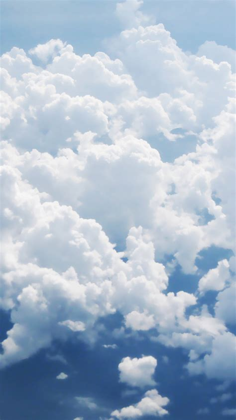 Clouds Aerial Wallpaper for iPhone X 8 7 6 Free