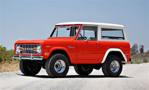 ford bronco test vehicle restored    auction