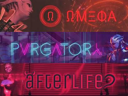 Mass Effect Afterlife Omega Asari Purgatory Clubs