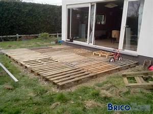 Terrasse Avec Palette : terrasse structure palette ~ Melissatoandfro.com Idées de Décoration