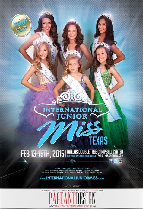 international junior  texas pageant recruitment flyer