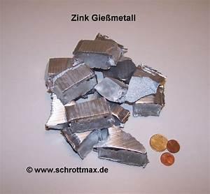 Silikon Zum Gießen : zink zum gie en znal4cu1 g nstig im shop schrottmax kaufen ~ Michelbontemps.com Haus und Dekorationen