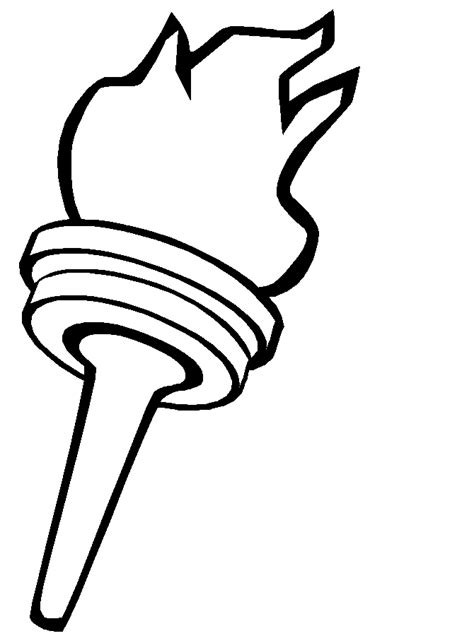 torch coloring page bulletin board idea  star spangled