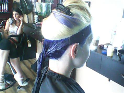 Indigo, Violet, Fuchsia Layered Hair Color