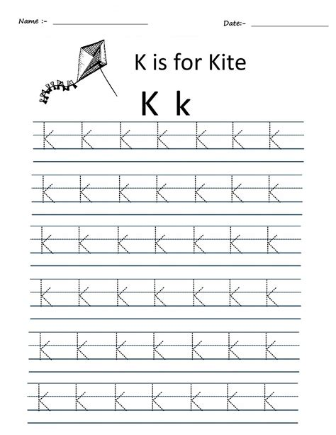 kindergarten alphabet tracing worksheets free preschool