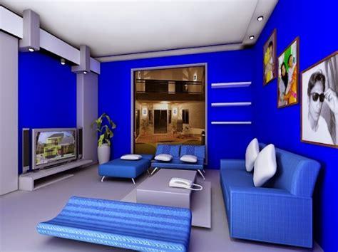 contoh kombinasi cat dinding warna biru  rumah