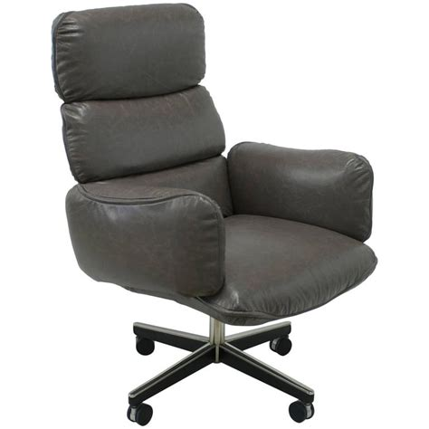 otto zapf for knoll international grey leather executive