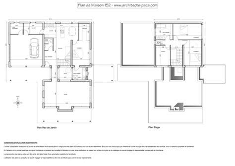 t 233 l 233 charger plan de maison moderne 152 plan niveaux cotations 1 100e plan de maison