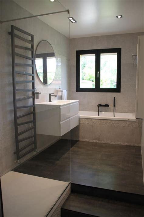 salle de bains design gris noir blanc hotel luxe