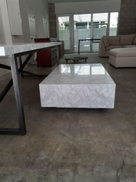 Restoration hardware low marble plinth square coffee table computer generated 3d model. Restoration hardware marble plinth coffee table for Sale in Los Angeles, CA - OfferUp