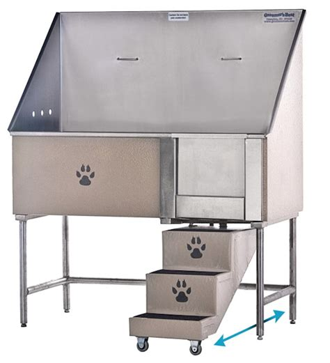 dog washing sink stainless swing step stainless steel wash tubs for dogs pets