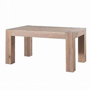 Table Bois Blanchi : table en bois blanchi bjorn la simplicit scandinave ~ Teatrodelosmanantiales.com Idées de Décoration