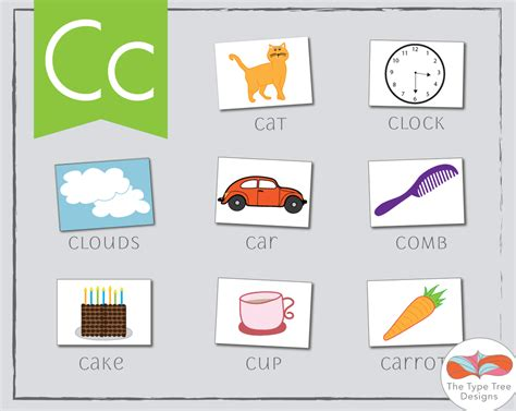 two letter words that start with c letter c activities for preschool the type tree designs 50678