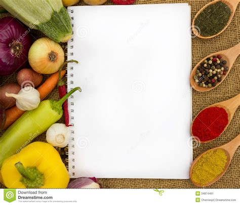 blank cookbook  recipes stock image image