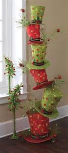 raz whimsical stack of lighted top hats trendy tree decor inspiration wreath