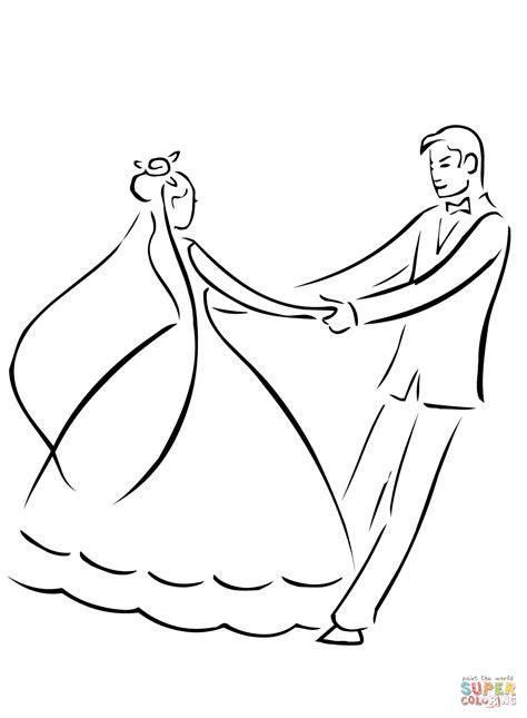 ausmalbild hochzeit erster tanz ausmalbilder kostenlos