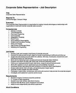 11 sales job description templates pdf doc free With sales rep job description template