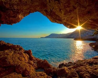 Sunrise Ocean Desktop Pc Cave Mac Wallpapersafari