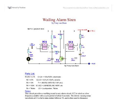 Wailing Alarm Siren Gcse Design Technology Marked