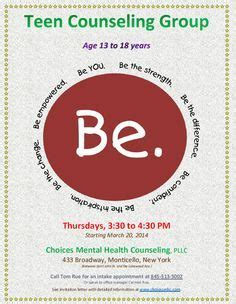 image result  group counseling flyers group