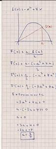Fläche Unter Parabel Berechnen : fl che berechnung des maximalen fl che eines dreiecks unter einer parabel mathelounge ~ Themetempest.com Abrechnung
