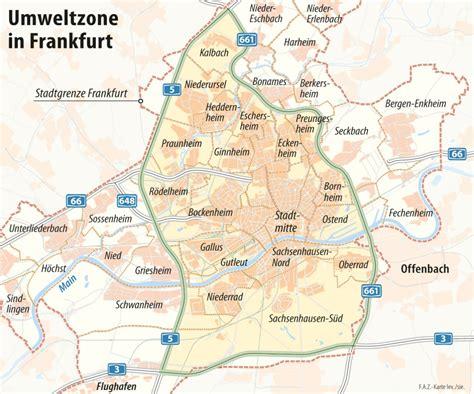 Frankfurt Umweltzone Karte