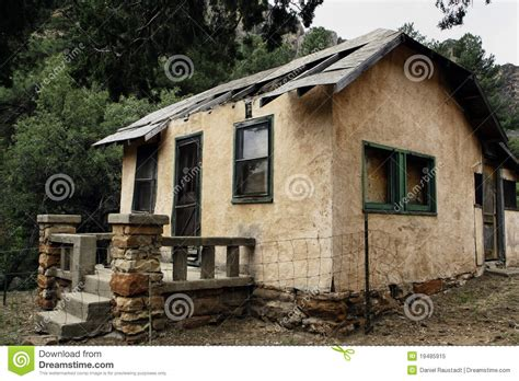 abandoned cabin  arizona state park stock image image