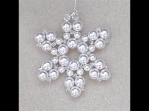 christmas snowflake wire  bead ornament youtube