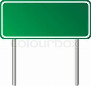 Pole with Road Signs | Vector | Colourbox