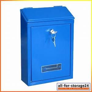 Deutsche Post Briefkasten Kaufen : briefkasten wn20 blau ist ein aufputz briefkasten oder ~ Michelbontemps.com Haus und Dekorationen