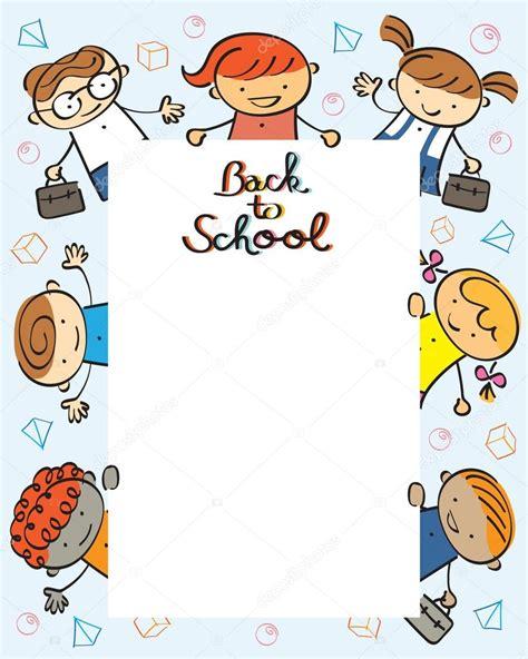 kindergarten back to school frame stock vector 169 muchmania 71956311