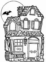 Haunted Coloring Pages Scary Print sketch template