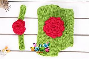2020 Lovely Manual Baby Wool Headband With Flower Pants