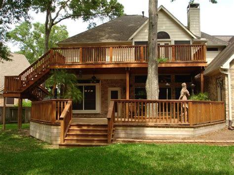 story deck  story deck decks backyard backyard deck