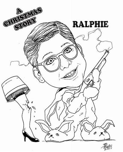 Coloring Christmas Story Pages Ralphie Printable Move