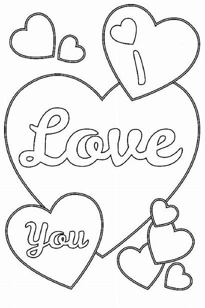 Coloring Pages Heart Printable Valentines Adult Hearts