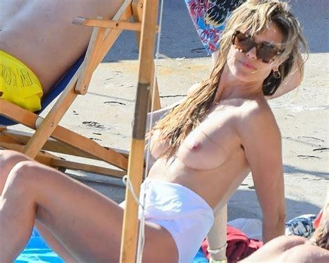 Heidi Klum Topless Again On A Nude Beach