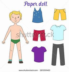Boy putting on clothes clipart collection